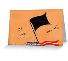 The Black Flag Greeting Card