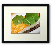 Yellow, Green, Spicy Framed Print