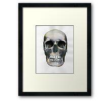 Skull (watercolor) Framed Print