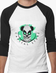 Capital STEEZ Panda Mask Men's Baseball ¾ T-Shirt