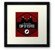 Damn Fine Cup of Coffee Framed Print