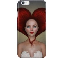 Queen of hearts portrait iPhone Case/Skin