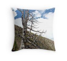Creepy Dead Tree Throw Pillow