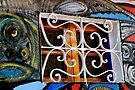 Wall mural, and window.  Havana, Cuba by buttonpresser