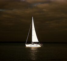 Lone Sail - East Head by lepuzzi