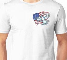 US Flag Dove Pocket Tee Unisex T-Shirt