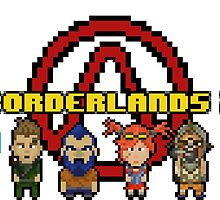 BOrderlands 2 Characters pixeleted version by S4beR