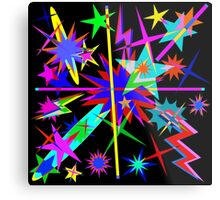 Cosmic Bang, Stars & Lighting Metal Print