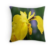 Iris & Bee Throw Pillow