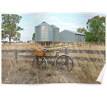 Gathering bunches wheat.... Poster