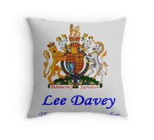 Representing the British BS Throw Pillow