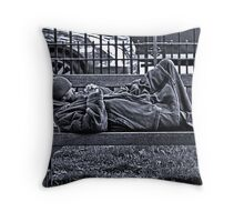Vagrant in Berkeley Square (London, England) Throw Pillow