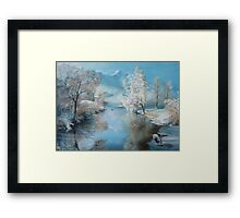 Quiet Ice, A perfect winter day   Framed Print