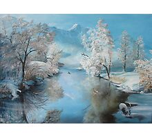 Quiet Ice, A perfect winter day   Photographic Print
