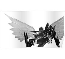Silver Crow and Black Lotus Poster