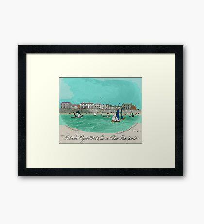 Robinsons Royal Hotel, Blackpool 1855 Framed Print