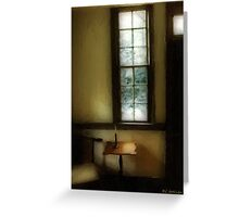 Sitting Room, Spring Rain Greeting Card