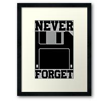 Floppy Disk - Never Forget Framed Print