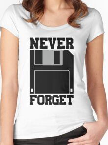 Floppy Disk - Never Forget Women's Fitted Scoop T-Shirt
