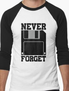 Floppy Disk - Never Forget Men's Baseball ¾ T-Shirt