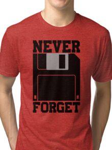 Floppy Disk - Never Forget Tri-blend T-Shirt