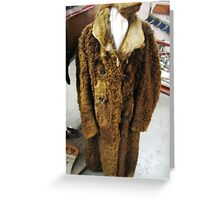 Bison coat and gloves Greeting Card