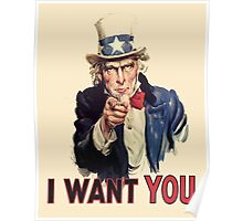 Americana, America, I Want You! Uncle Sam Wants You. Recruitment Poster, USA, Poster