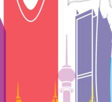 Riyadh skyline pop Sticker