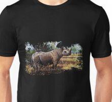 Black african rhino Unisex T-Shirt