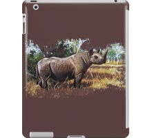 Black african rhino iPad Case/Skin