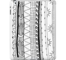 monochrome stripy patterns iPad Case/Skin