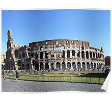 Colloseum on a clear day Poster