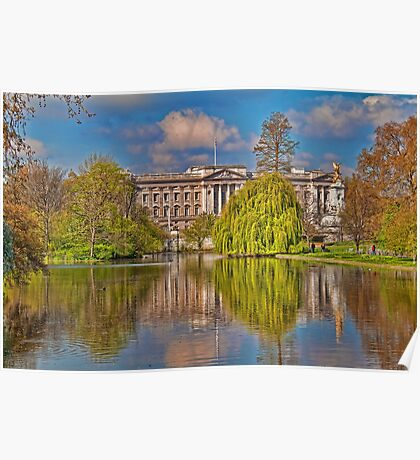 Buckingham Palace. View from St James Park. London Poster
