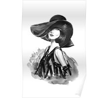 woman with stylish hat  Poster