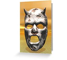 MASK OF STONE Greeting Card
