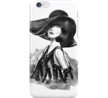 woman with stylish hat  iPhone Case/Skin