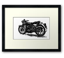 Vincent Black Shadow Framed Print