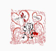Love To Be Loved Teddy Bear Womens Fitted T-Shirt