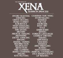 The Many Skills of Xena Kids Clothes