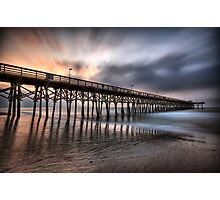 Early Morning at the Pier Photographic Print