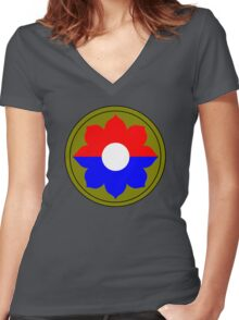 9th Infantry Division (United States - Historical) Women's Fitted V-Neck T-Shirt