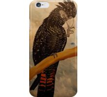 Red Tail Black Cockatoo iPhone Case/Skin
