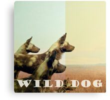 Wild Dog typography photograph Canvas Print