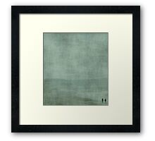 T W O ~ blue Framed Print