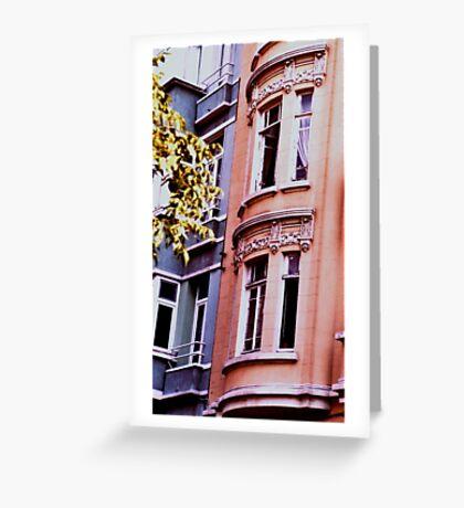 neighborhood street,Istanbul Greeting Card