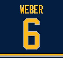 Buffalo Sabres Mike Weber Jersey Back Phone Case by Russ Jericho