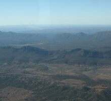 Looking over Wilpena Pound,S.A. by elphonline