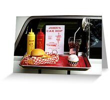 1950's Drive-in Greeting Card