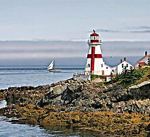 East Quoddy Lighthouse by Monnie Ryan