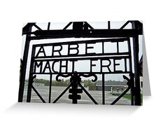 Dachau Entrance Gate Greeting Card